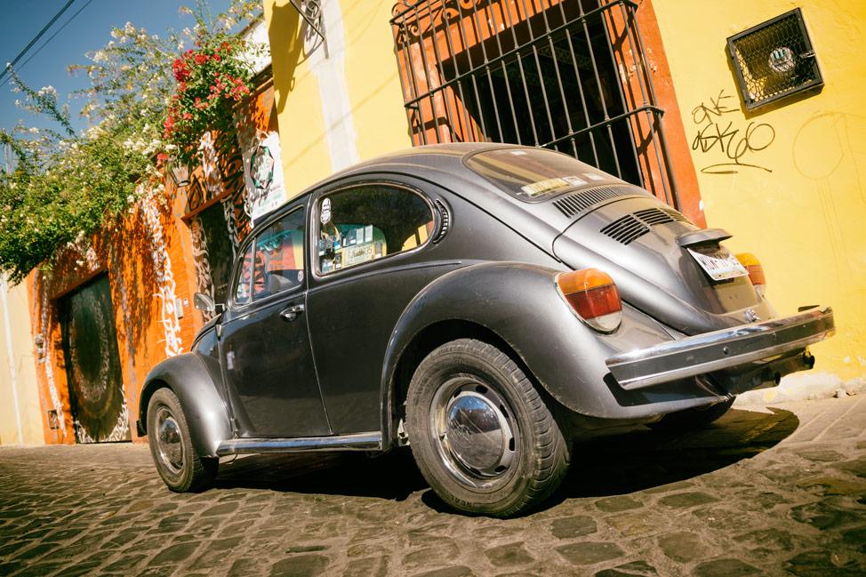 Silver VW Beetle Oaxaca