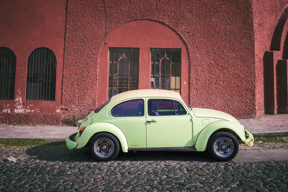 Yellow VW Beetle San MIguel de Allende