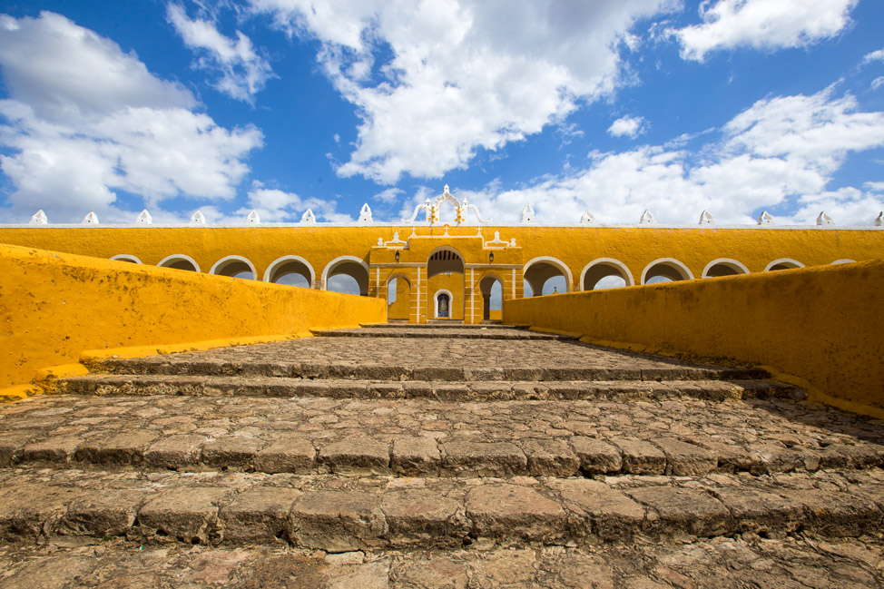 Izamal Steps to Monastery