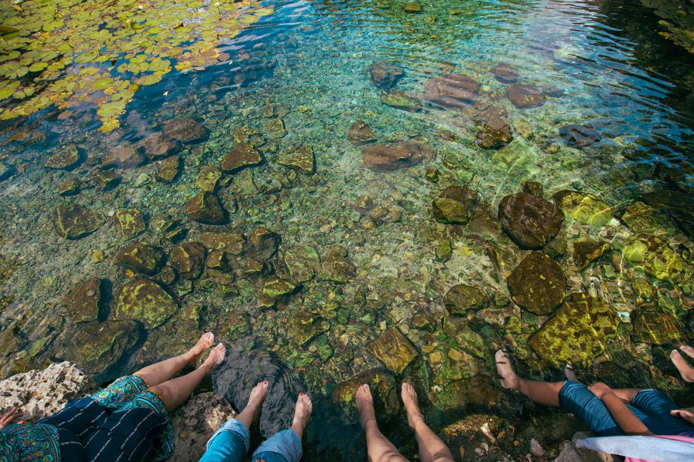 Cenote Xlacah feet