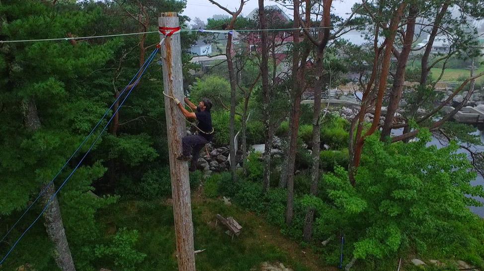 Darren Lumberjack Pole Climb