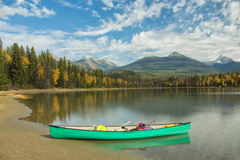 Bowron Lakes Parked Canoe