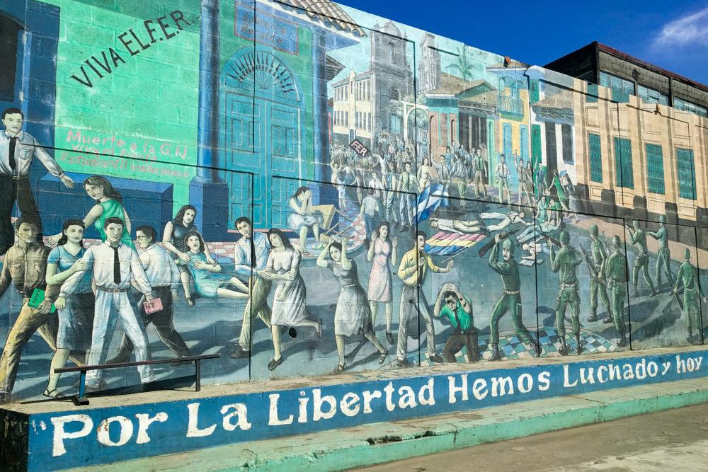 Leon Nicaragua Mural Por La Libertad
