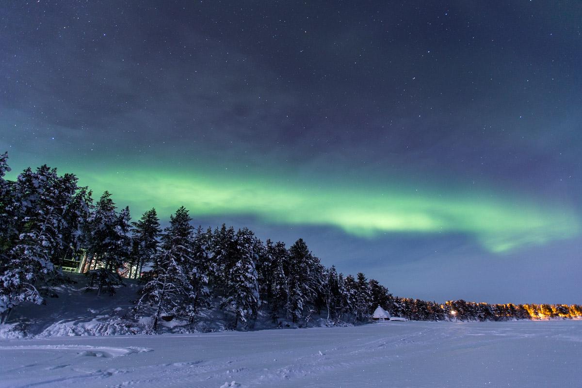 Northern Lights Hetta Finland
