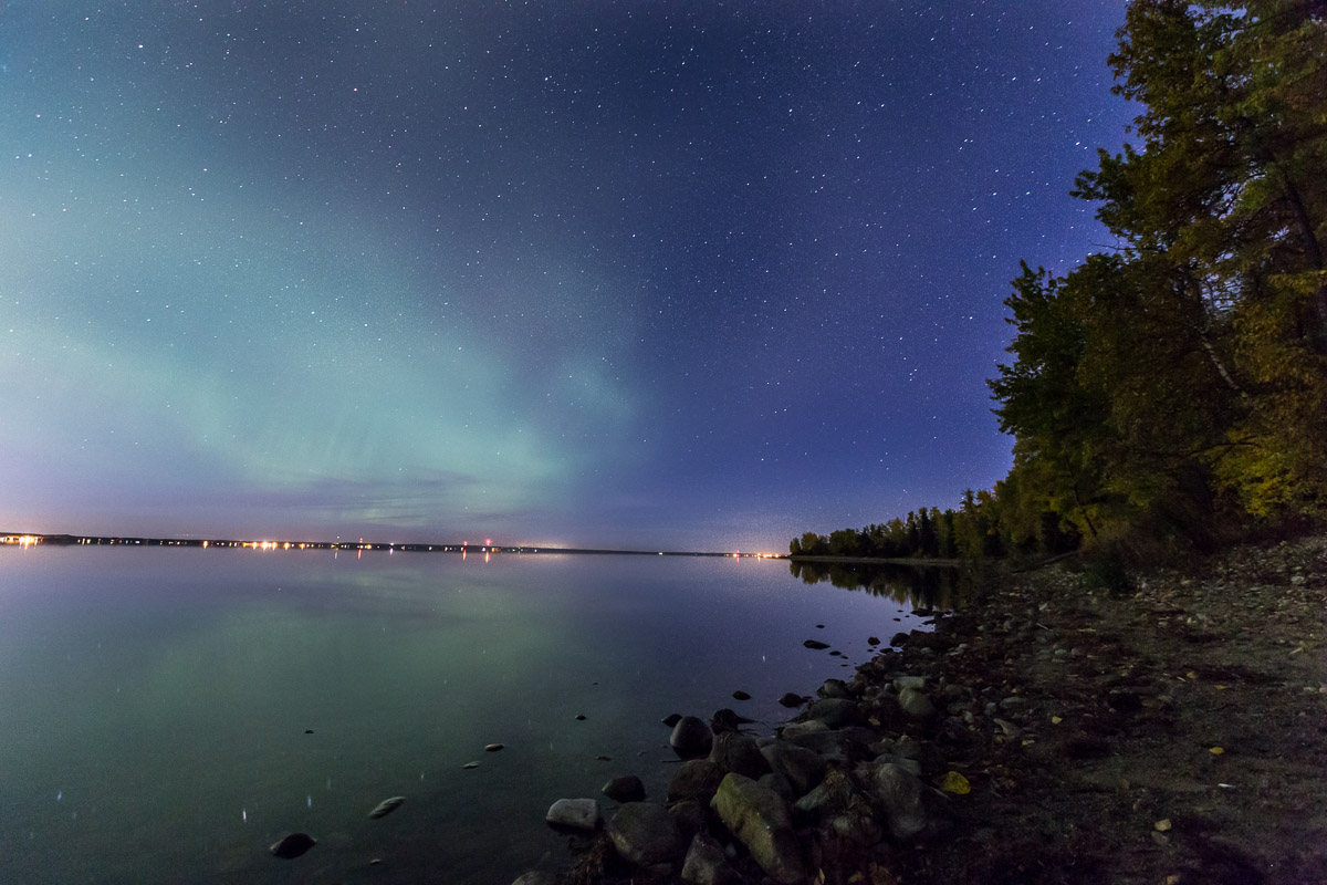 Northern Lights Pigeon Lake Alberta Canada