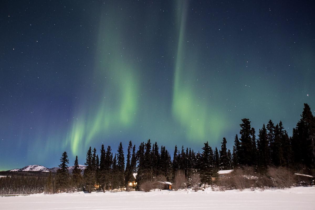 Northern Lights Yukon Canada Cabin