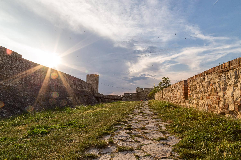 Belgrade Fortress Sunset Stone Path