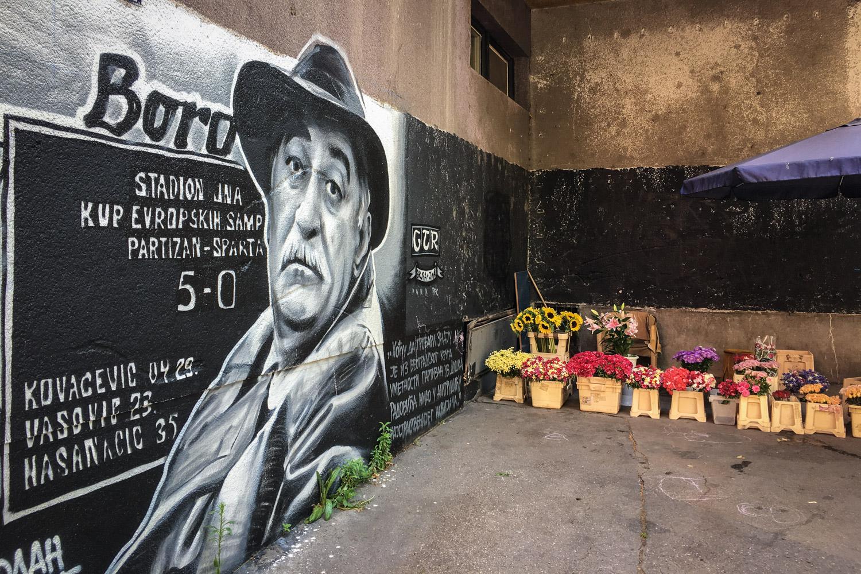 Belgrade Street Art and Flowers