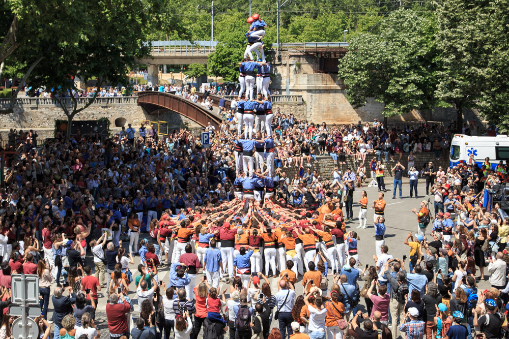 Girona Flower Festival Human Towers