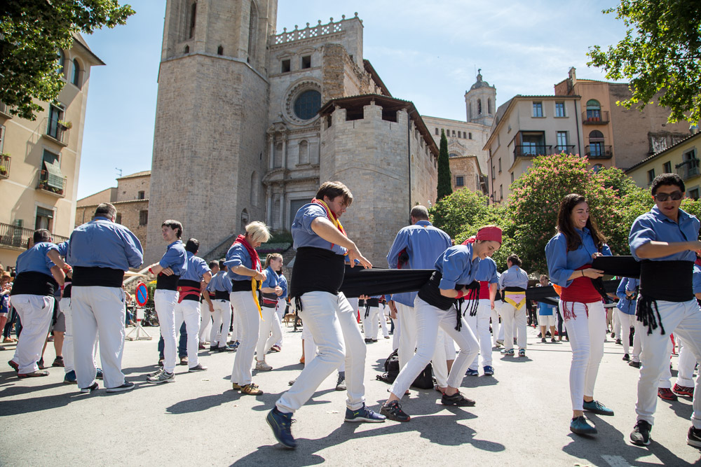 Girona Human Tower Flower Festival