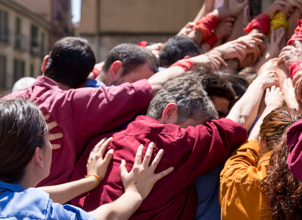 Girona Human Towers Teamwork