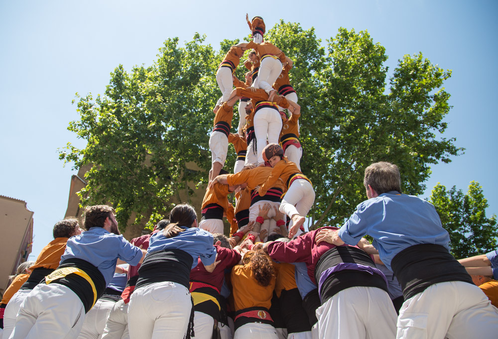 Girona Human Towers Working Together