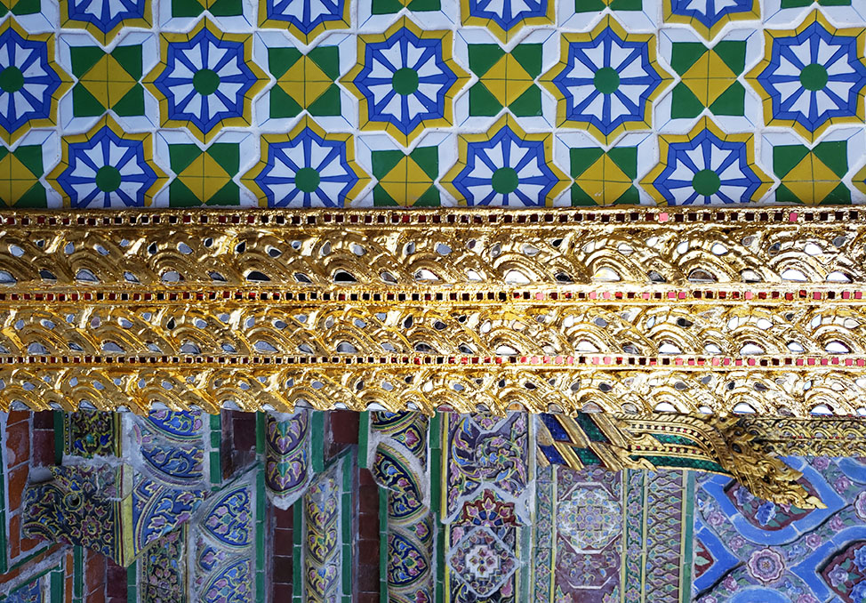 Thai mosaic of patterns