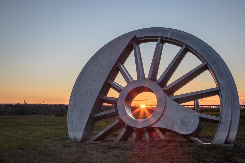 Train Wheel Lethbridge Alberta