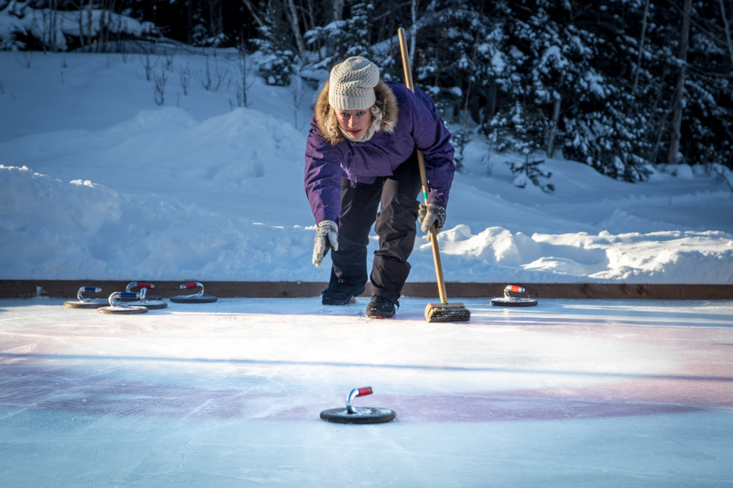 Curling at Elk Ridge Resort Saskatchewan