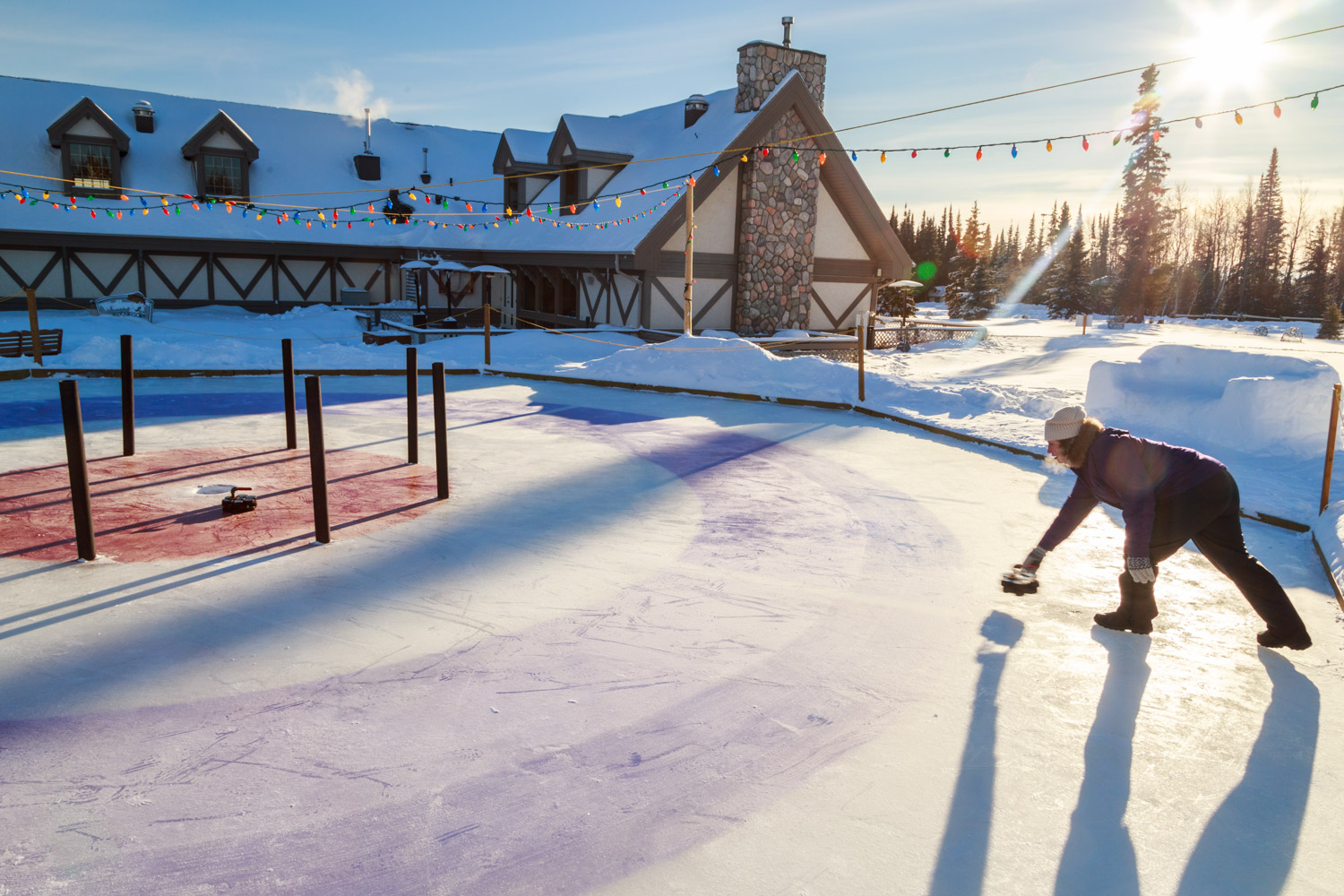 Playing Crokicurl Elk Ridge Resort