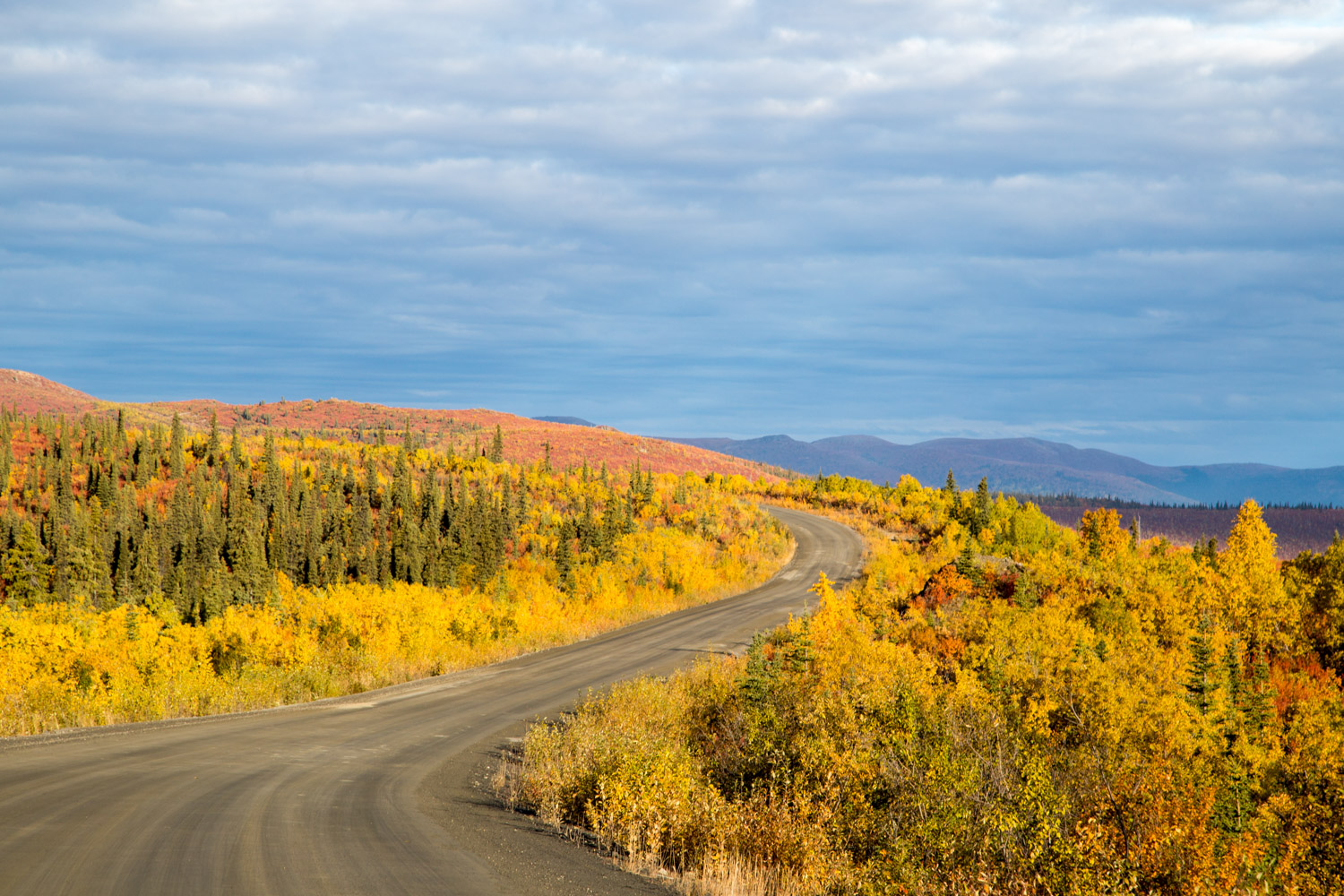 Top of the World Highway Yukon Fall