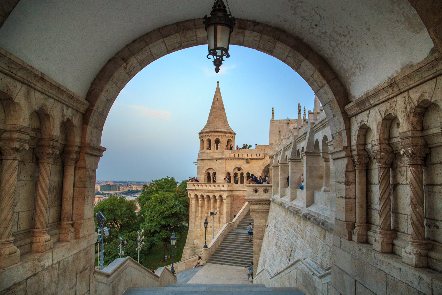 Budapest Hungary Castle Staircase and View