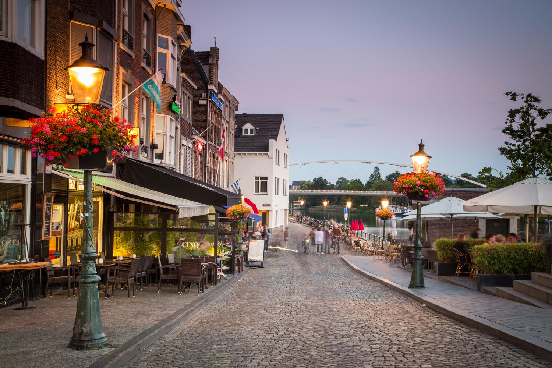 Maastrict Netherlands Riverfront Street