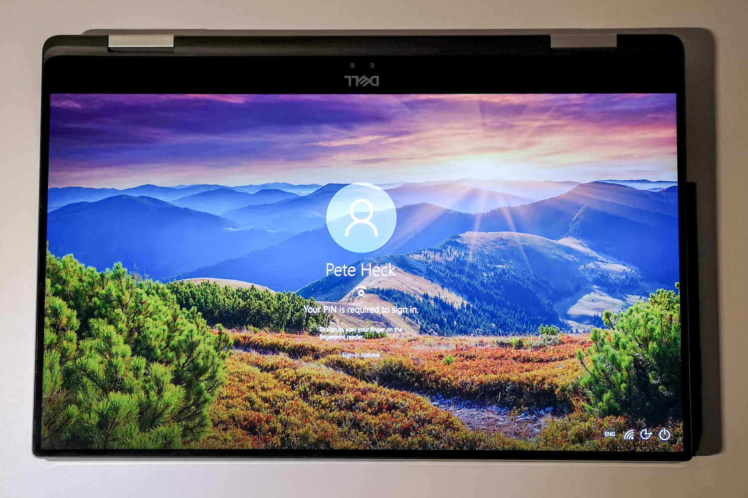 Dell XPS15 2 in 1 Tablet Mode