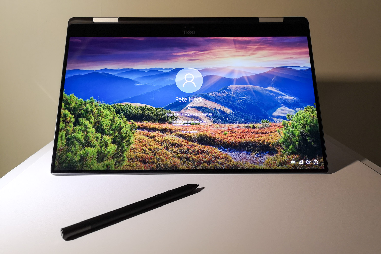 Dell XPS15 2 in 1 Tent Mode