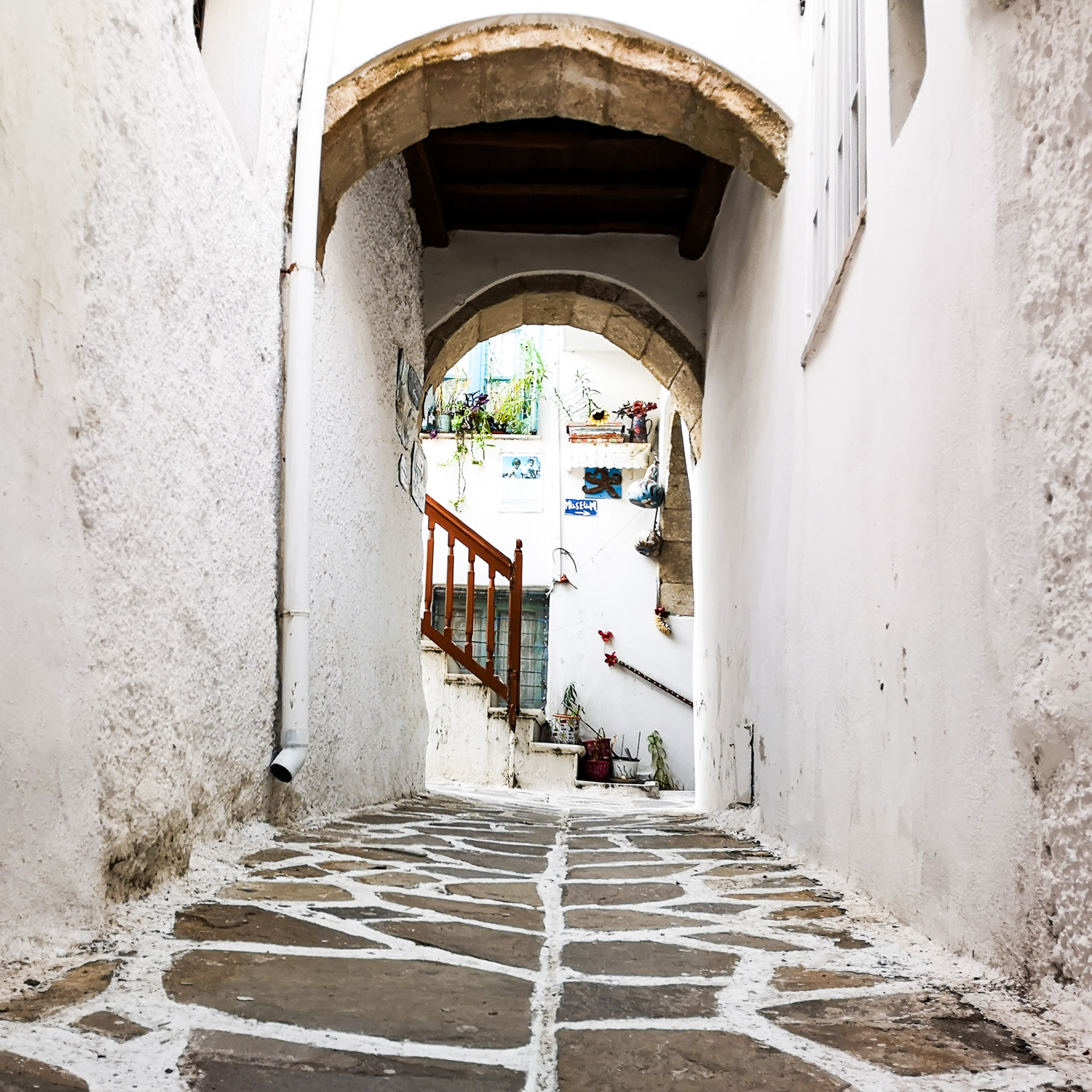 Streets of Naxos Greece
