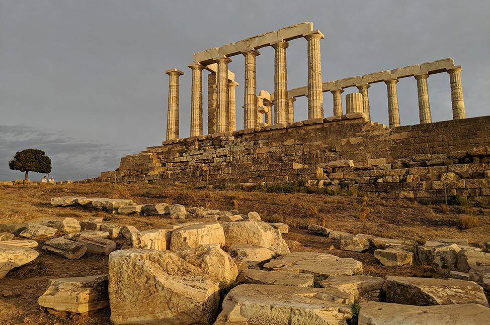 Temple of Poseidon Golden Hour