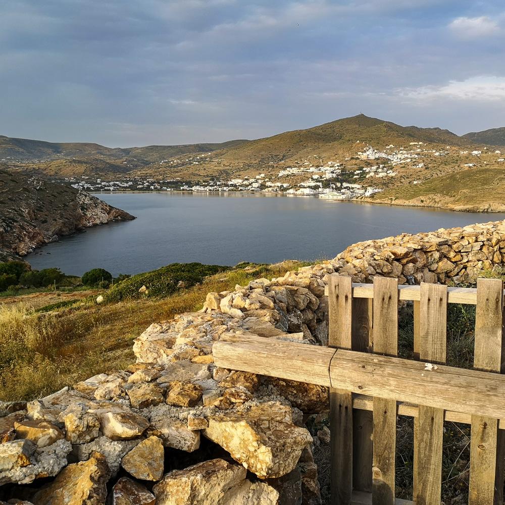 The rocky landscape of Ios, Greece