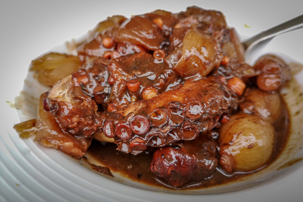 A plate of stewed Octopus