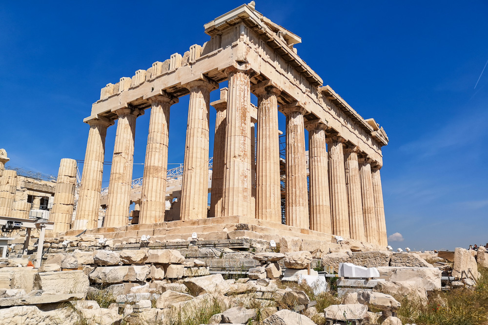 A view of the Parthenon in Athens