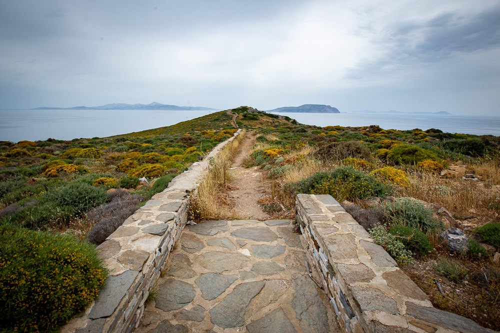The rocky path that leads to Homer's tomb