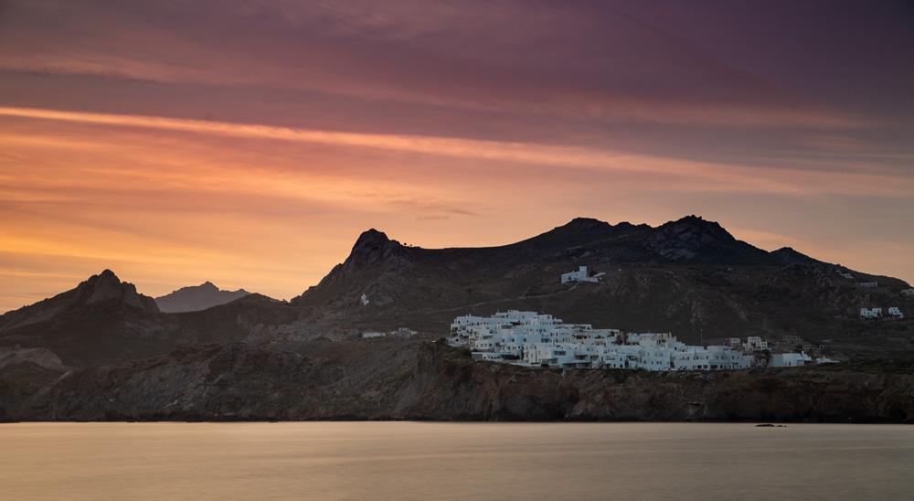 A sunrise scene in Naxos, Greece