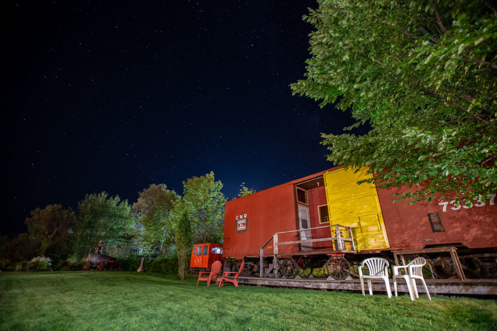Sleep in a boxcar at the Train Station Inn in Tatamagouche, Nova Scotia.