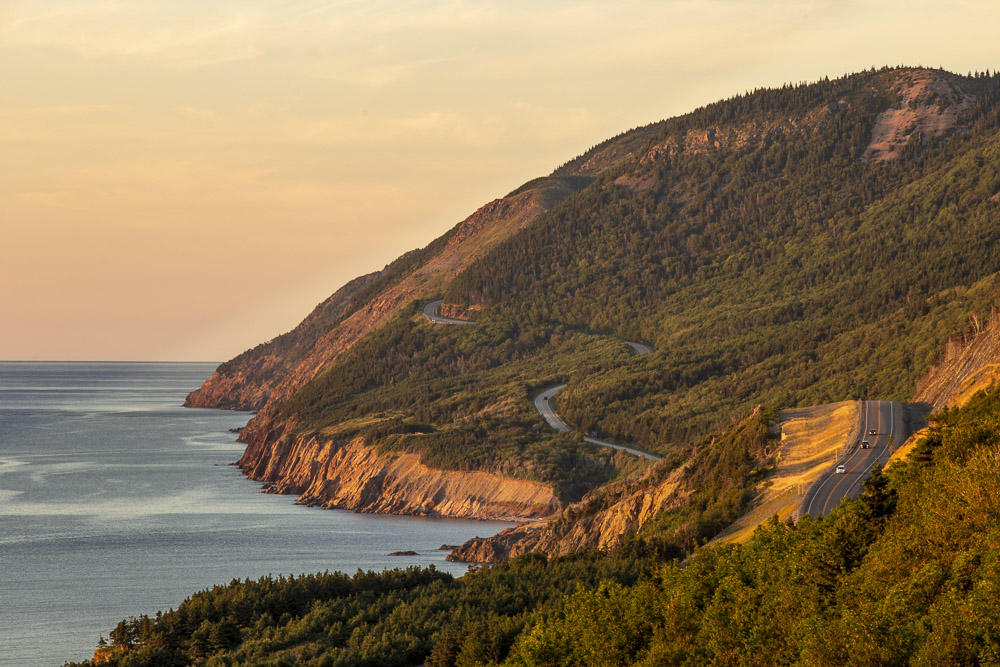 Cabot Trail drive in Cape Breton, Nova Scotia
