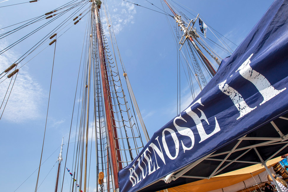 The mast of the Bluenose II